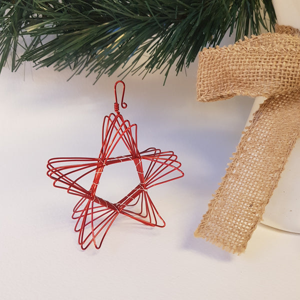 Wirework Christmas star decorations