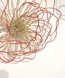 Dyed wirework wall roses