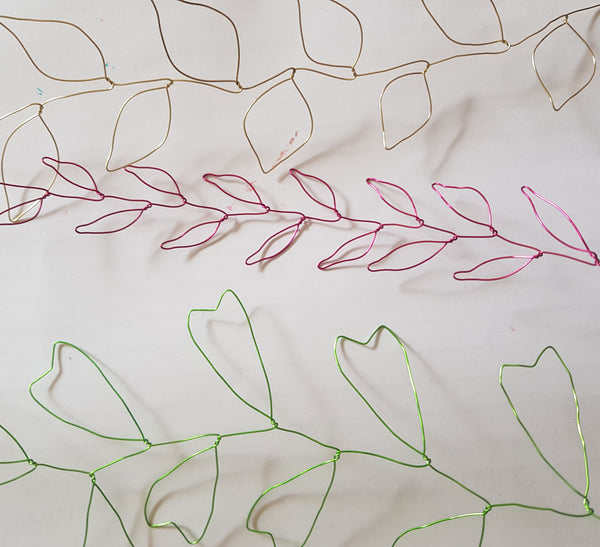 Wire Leaf garlands