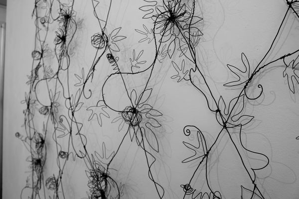 wirework wallpaper 'Tendrils' SOLD
