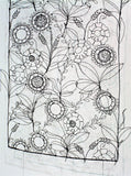 Wirework Wallpaper 'Leaves and flowers' SOLD