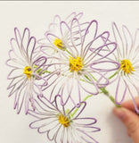 Small dyed wire daisies