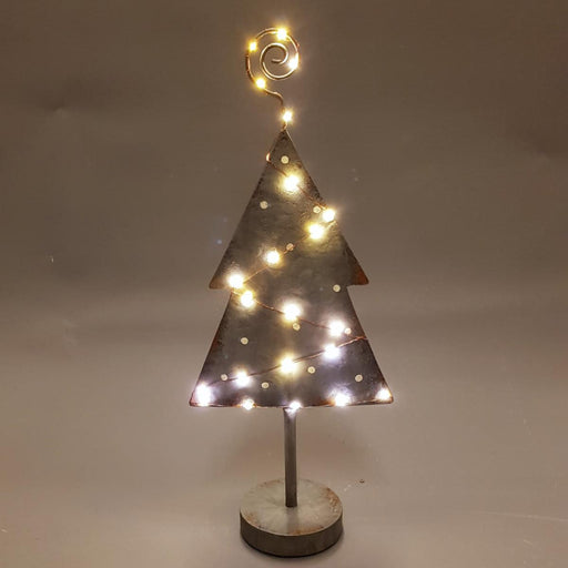 LED Freestanding Metal Christmas Tree - Light up Tree