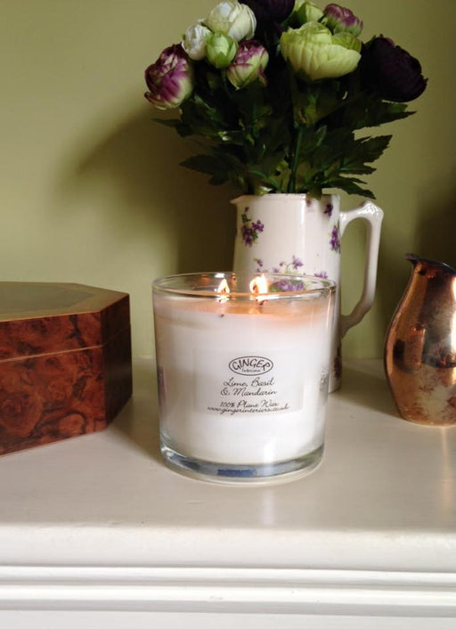 Large Scented Candle 3 Wick - Lime, Basil & Mandarin