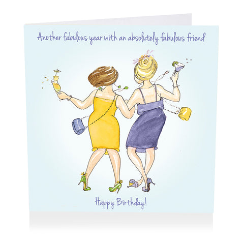 Friend Birthday Card - Another fabulous year - Art Beat