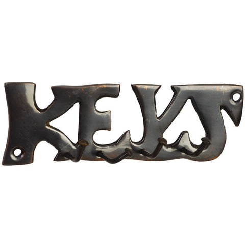 Bronze KEYS Key Hooks