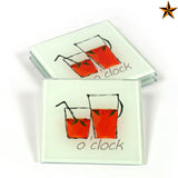 Pimms Coasters - Pimms o'clock - Set of 4