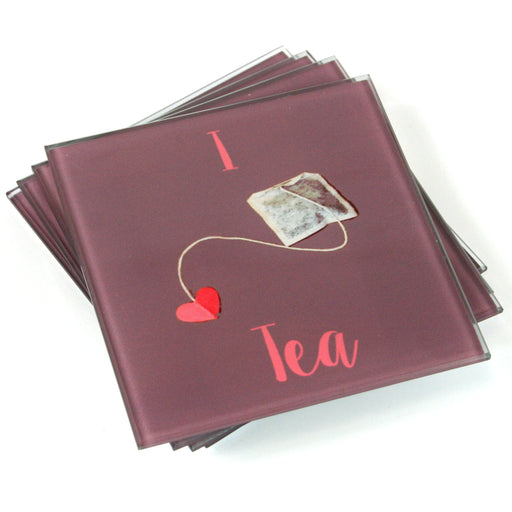 I Love tea coasters
