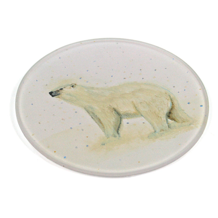 Polar Bear Coasters - Glass Set of 4