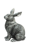 Silver Hare - Textured Sculpture
