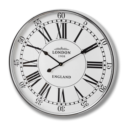 London City Wall Clock - Silver 68cm DS