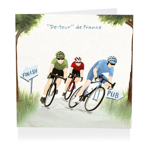"Cycling Card - ""De-tour"" de France - Art Beat"