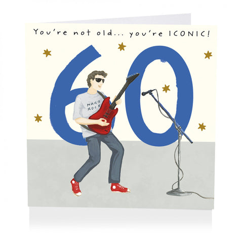 60th Birthday Card - You're not old...you're ICONIC!