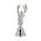 Stag Bell Brushed Silver Finish