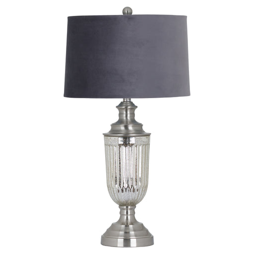 Penelope Glass Table Lamp - Black Velvet Shade
