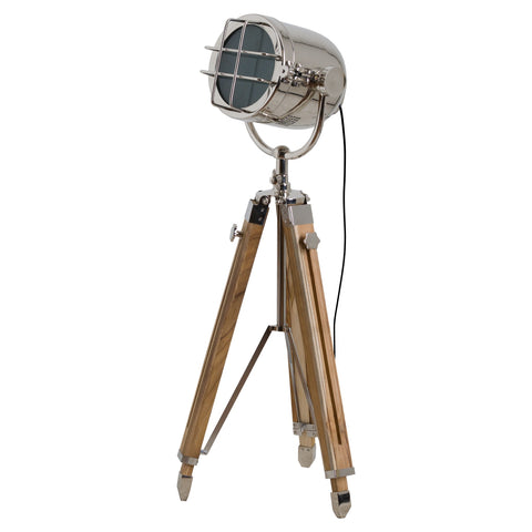 Industrial Spotlight Tripod Floor Lamp