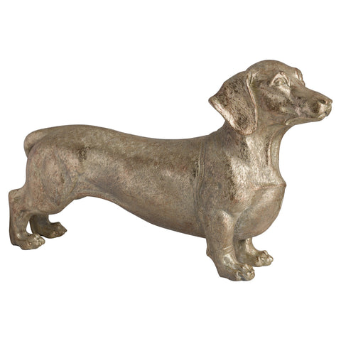 Antique Gold Dachshund Dog Sculpture - Bert