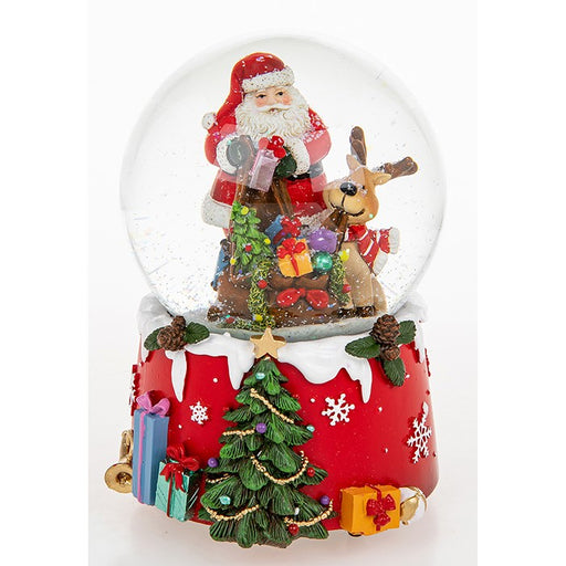 Christmas Musical Snow Globe Jolly Santa