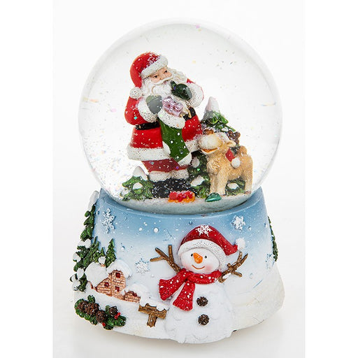 Christmas Musical Snow Globe Fun Santa