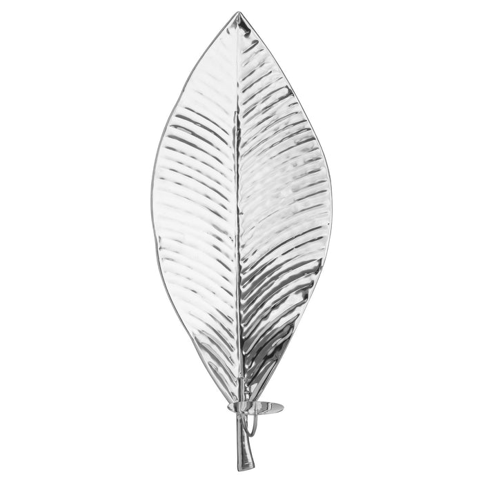 Leaf Wall Candle Holder Silver DS