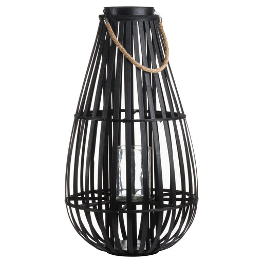 Domed Black Rattan Lantern - Extra Large