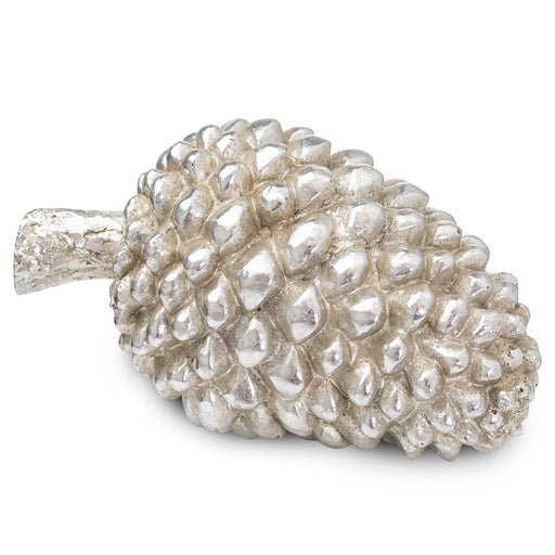 Silver Pinecone Decoration