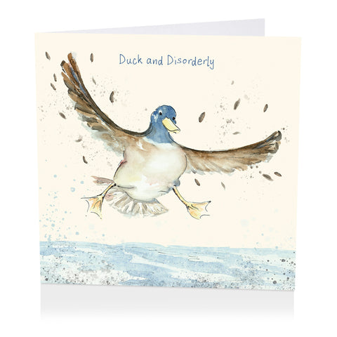 Duck Birthday Card - Duck and Disorderly - Art Beat