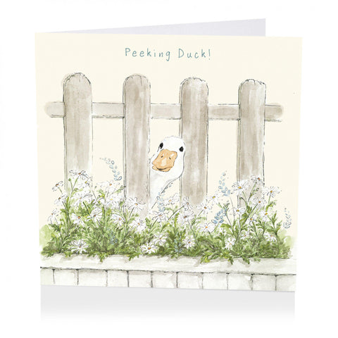 Birthday Card - Peeking Duck! - Art Beat