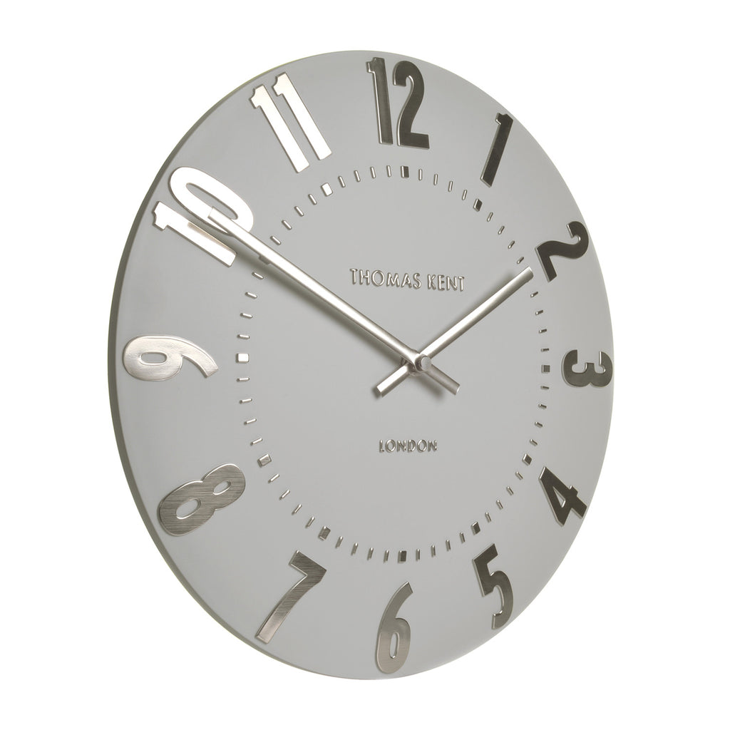 New Thomas Kent Mulberry Silver Cloud Wall Clock 20inch