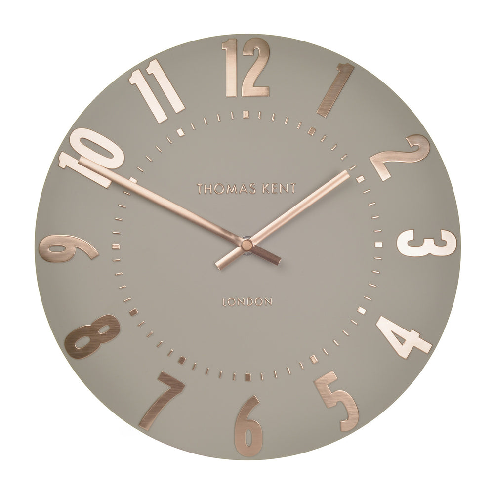 Thomas Kent 20inch Mulberry Rose Gold Wall Clock
