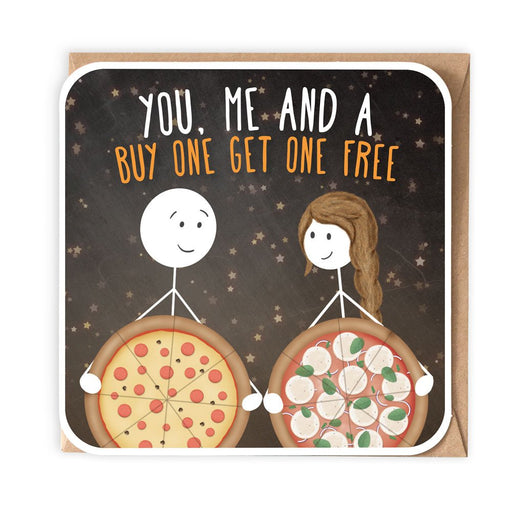 You, Me and a Buy one get one free - Romantic Card from Lanther Black