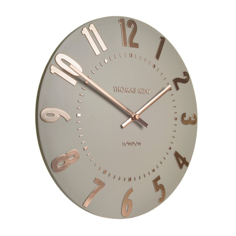 NEW - Thomas Kent Mulberry Rose Gold Wall Clock - 20inch
