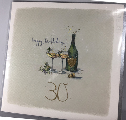 Ladies 30th Birthday Card - Pop The Cork