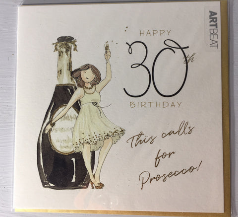 30th Birthday Card - This Calls for Prosecco!