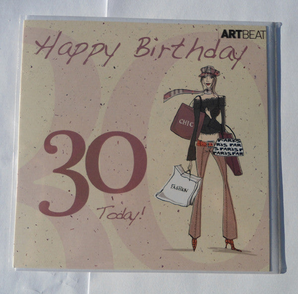 Ladies 30th Birthday Card - Happy Birthday 30 Today!