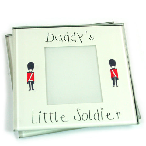 Daddy's Little Soldier Photo Coasters - Set of 2