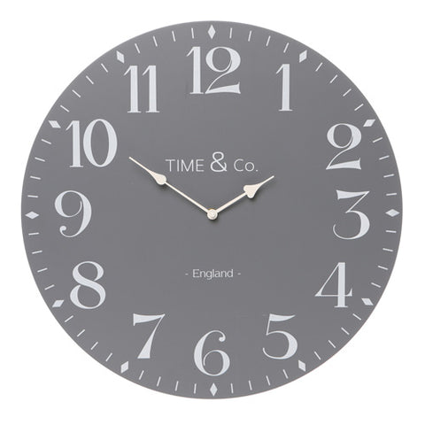 Time & Co Wall Clock - 50cm - Available in four colours