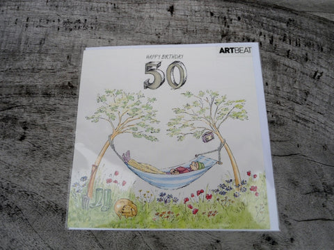 Gentleman's 50th Birthday Card - KEEPING BUSY