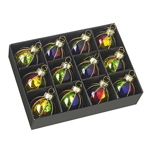Mini Christmas Baubles - Jewel and Gold - Set of 12