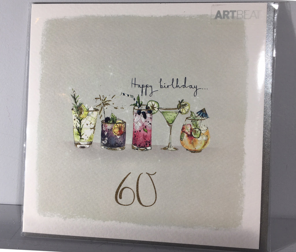Ladies 60th Birthday Card - Drinks at 60