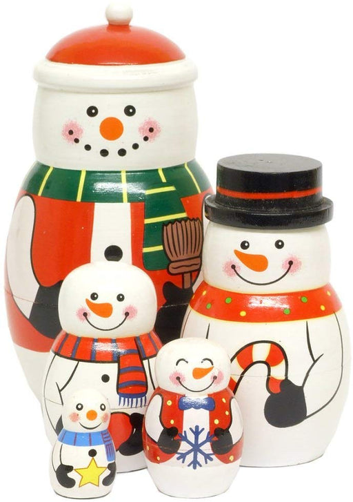 Wooden Nesting Christmas Set - Snowman Family