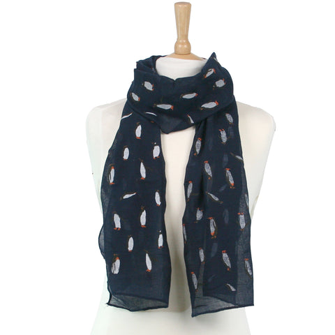 Penguin Christmas Scarf - Available in 2 colours