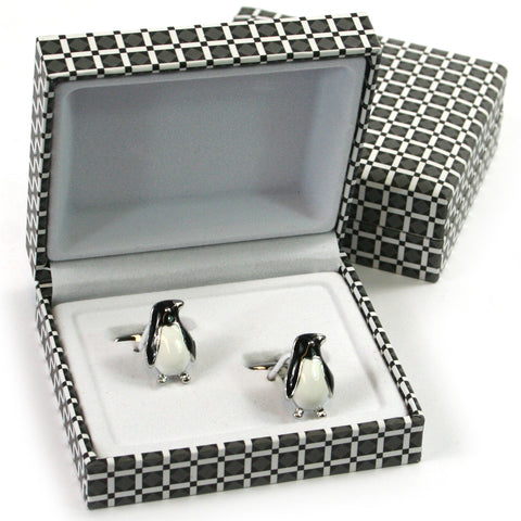 Penguin Cuff Links - Fun Festive Man Gift