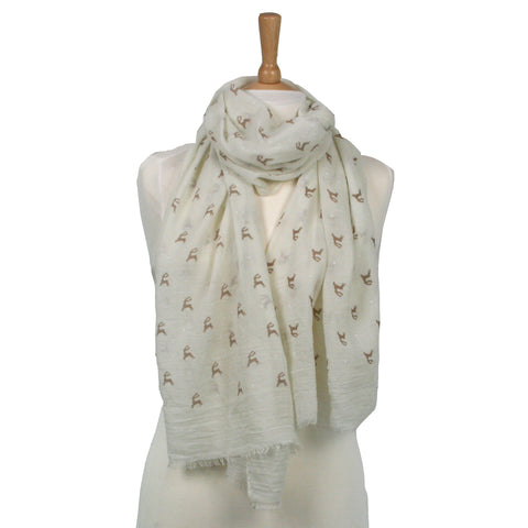 Stag Scarf - Available in 3 colours