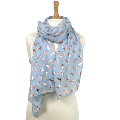 Unicorn Metallic Scarf - Available in 2 colours