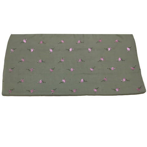 Sparkly Flamingo Scarf - Grey with pink glitter flamingos