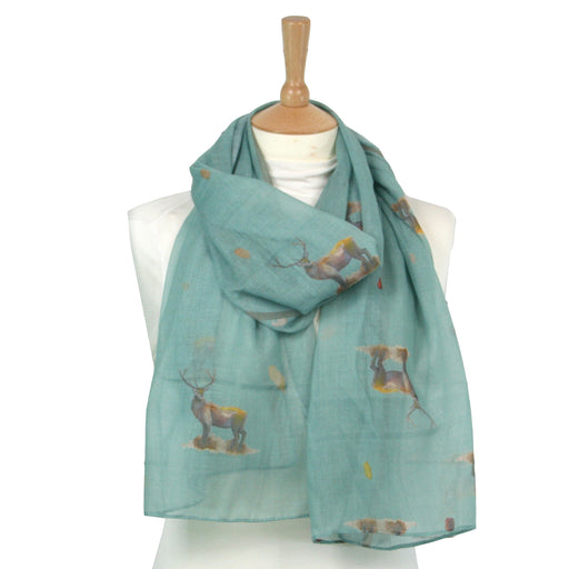 Stag Scarf -Designed by British Artist Kat Jackson, Supporting WWF