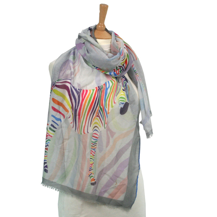 Colourful Zebra Scarf