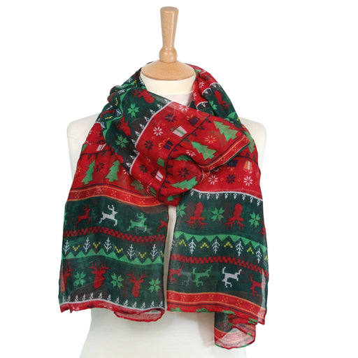 Christmas Jumper Scarf - Festive Design
