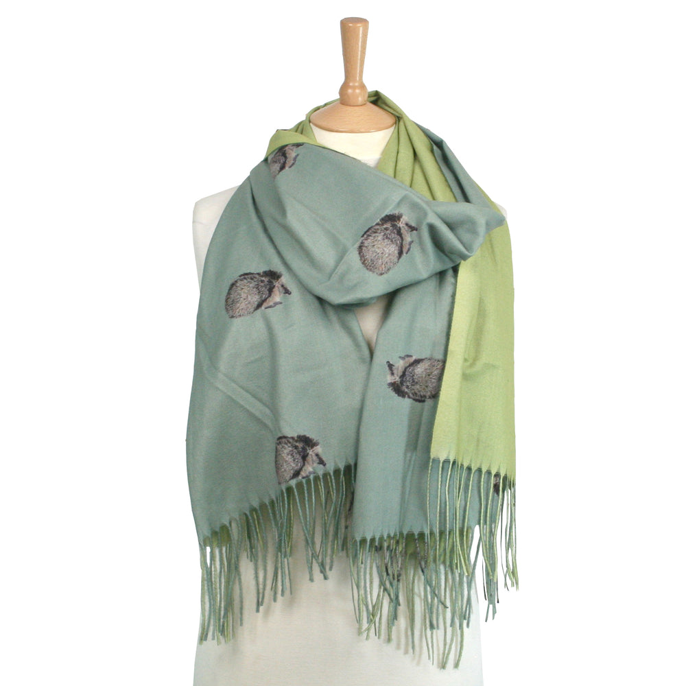 Hedgehog Sage Scarf, Thick Pashmina Style